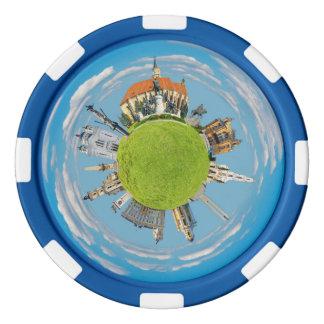 クルージュのnapoca都市ルーマニア少し惑星の陸標ar ポーカーチップ