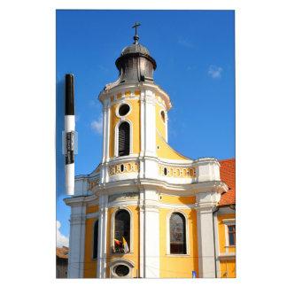 クルージュNapoca、ルーマニアの古い教会 ホワイトボード