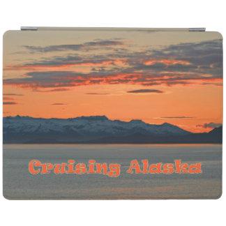 クルージングアラスカ/鮮やかなオレンジ沿岸日没 iPadスマートカバー