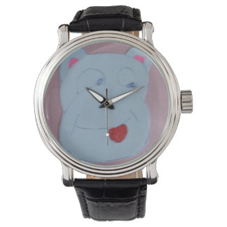 クレアの黒いヴィンテージ革腕時計 腕時計