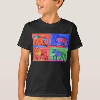 クレアの4頭の馬 Tシャツ