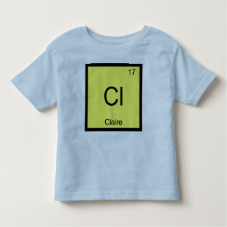 クレア一流化学要素の周期表 トドラーTシャツ