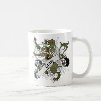 クレイグのタータンチェックのライオン コーヒーマグカップ
