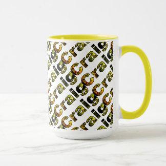 クレイグの黄色のスタイル15のozの信号器のマグ マグカップ