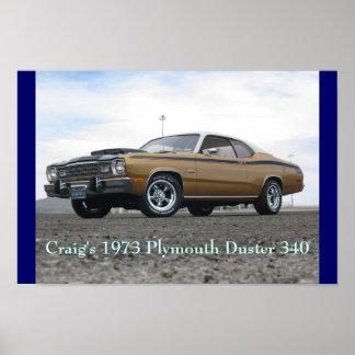 クレイグの1973年のプリマスの塵払い340 ポスター