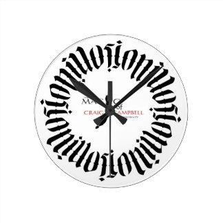 クレイグキャンベルの錯覚のAmbigramの時計の魔法 ラウンド壁時計