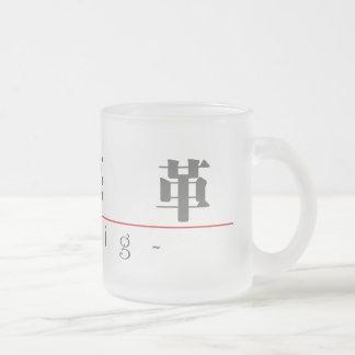 クレイグ20530_3.pdfの中国のな名前 フロストグラスマグカップ