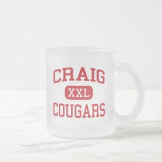 クレイグ-クーガー-中間-インディアナポリスインディアナ フロストグラスマグカップ