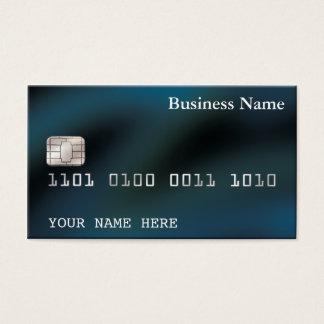 クレジットカードのスタイルの名刺の(2味方される)青 名刺