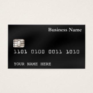 クレジットカードのスタイルの名刺の(2味方される)黒 名刺