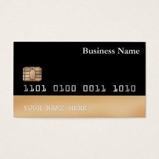 クレジットカードのスタイルの名刺は黒い金ゴールド2味方しました 名刺