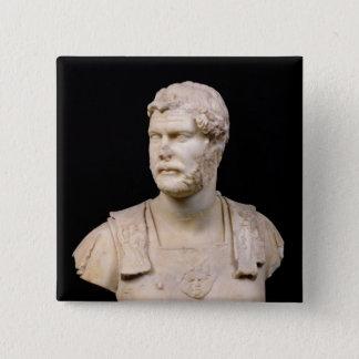クレタで見つけられる皇帝Hadrianのバスト 5.1cm 正方形バッジ