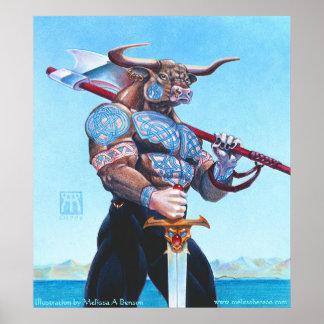 クレタのプリントのDaedalus Minotaur ポスター