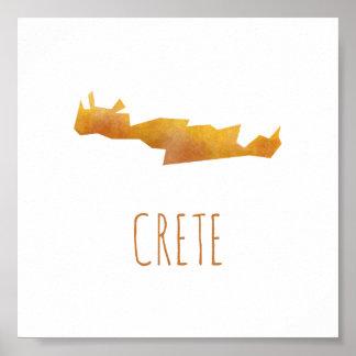 クレタの地図 ポスター