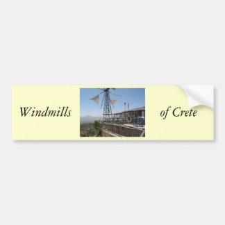 クレタの風車 バンパーステッカー