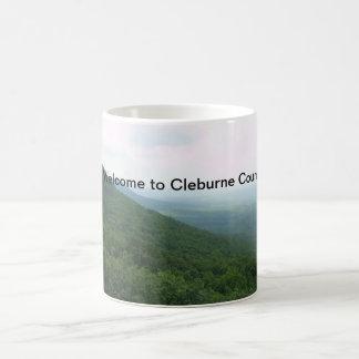 """""""クレバーン郡への歓迎""""のコーヒーカップ コーヒーマグカップ"""