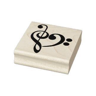 クレフ、音符記号のハート ラバースタンプ
