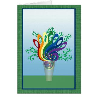 クレフ、音符記号の花束 カード