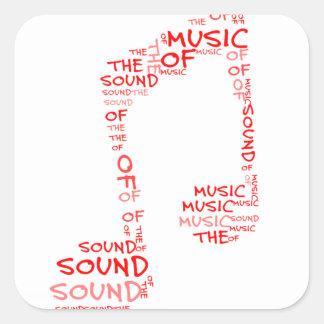 クレフ、音符記号-音楽のであって下さい スクエアシール
