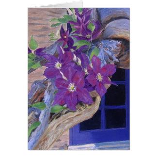 クレマチスのつる植物カード グリーティングカード