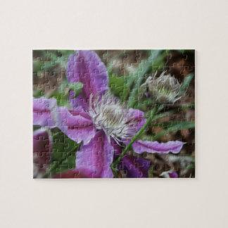 クレマチスの花のパズル ジグソーパズル
