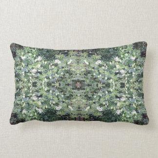 クレマチス713の花の写真のフラクタル3のLumbarの枕 ランバークッション