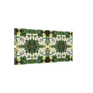 クレマチス745のフラクタルBの花のキャンバスのパネル キャンバスプリント