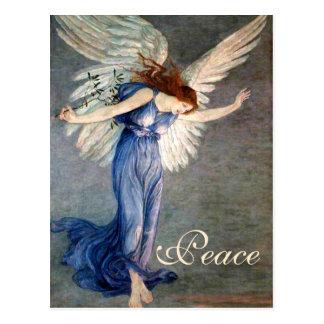 クレーンの平和クリスマスの天使 ポストカード