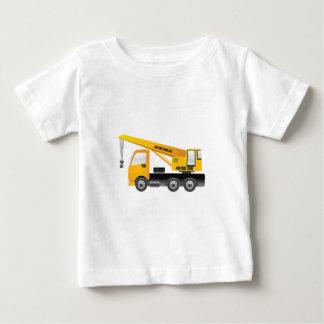クレーントラックの乳児のTシャツ ベビーTシャツ