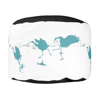 クレーン鳥動物の野性生物のPoufの枕 プーフ