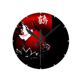 クレーン ラウンド壁時計