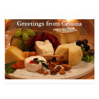 クロアチアからの挨拶 ポストカード