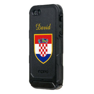 クロアチアのカスタマイズ旗 ウォータープルーフiPhone SE/5/5sケース