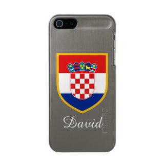 クロアチアのカスタマイズ旗 メタリックiPhone SE/5/5sケース