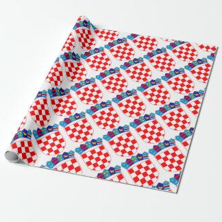 クロアチアのクロアチアの紋章、Hrvatskaの紋章付き外衣 ラッピングペーパー