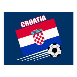 クロアチアのサッカーチーム はがき