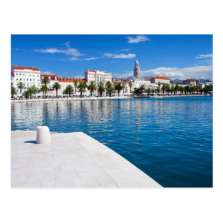 クロアチアの割れ目の都市 ポストカード