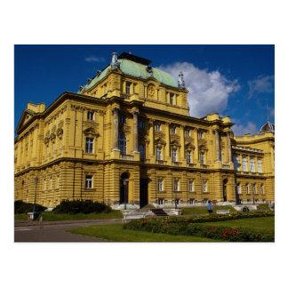 クロアチアの国立劇場、ザグレブ、クロアチア ポストカード