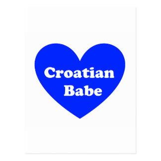 クロアチアの女の子 葉書き