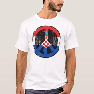 クロアチアの平和 Tシャツ