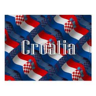 クロアチアの振る旗 葉書き