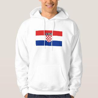 クロアチアの旗が付いているフード付きのスエットシャツ パーカ