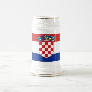 クロアチアの旗が付いているマグ ビールジョッキ
