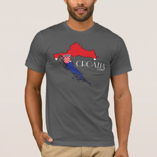 クロアチアの旗の地図のワイシャツ Tシャツ