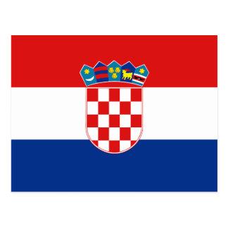 クロアチアの旗の郵便はがき ポストカード
