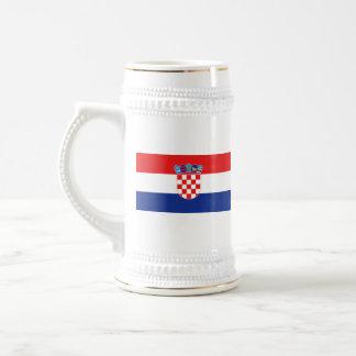 クロアチアの旗の~の地図のマグ ビールジョッキ