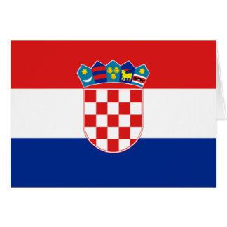 クロアチアの旗 カード
