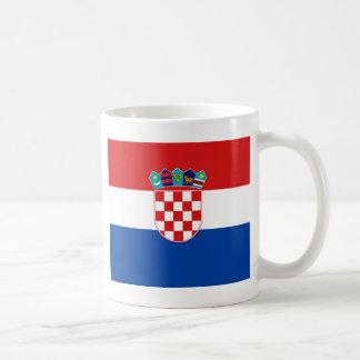クロアチアの旗 コーヒーマグカップ