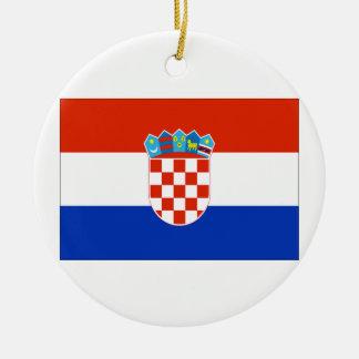 クロアチアの旗 セラミックオーナメント