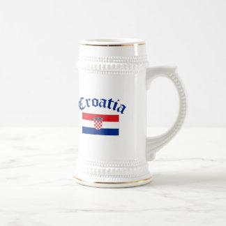 クロアチアの旗 ビールジョッキ